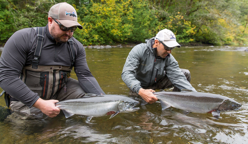 Rain coast guides salmon for Fly fishing washington state